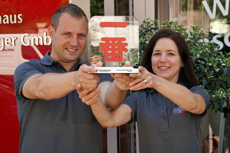 Ichiban Auszeichnung fuer Toyota Autohaus Metzger bei Neckarsulm