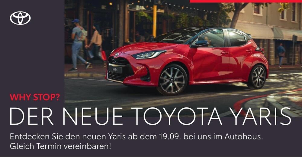 Der neue Toyota Yaris im Autohaus Metzger in Widdern bei Heilbronn