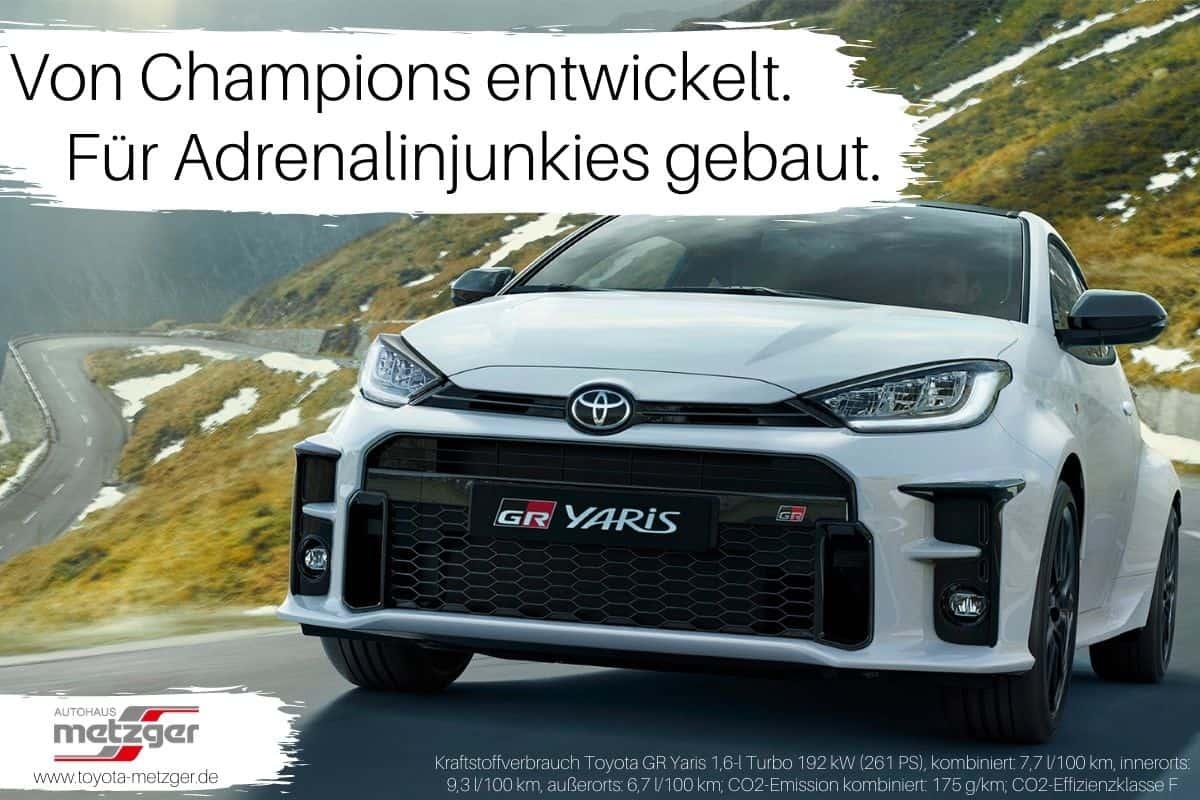 GR Yaris 2021 im Toyota Autohaus Metzger in Widdern bei Heilbronn