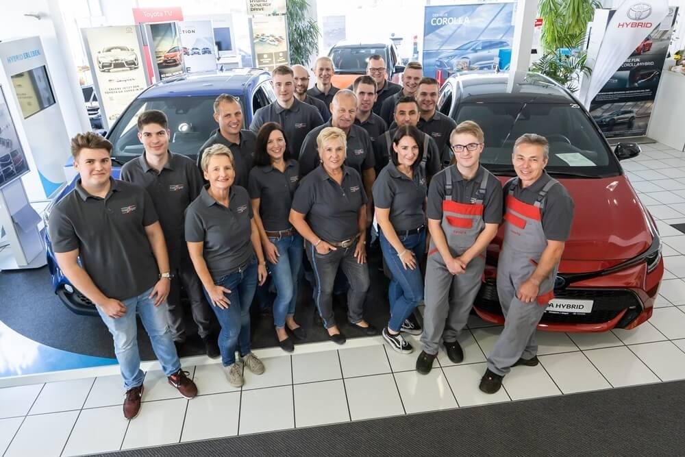 Das Team vom Toyota Autohaus Metzger in Widdern