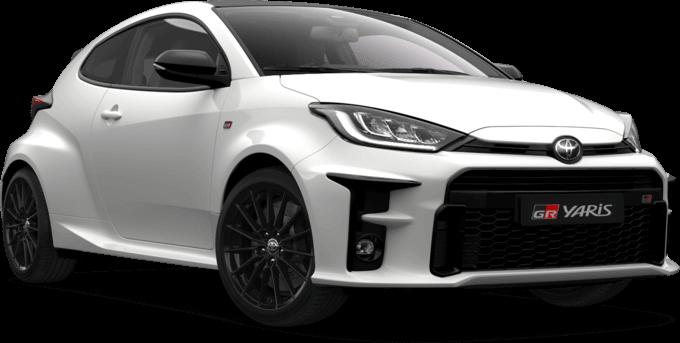 Toyota GR Yaris in weiss beim Autohaus Metzger in Widdern bei Heilbronn