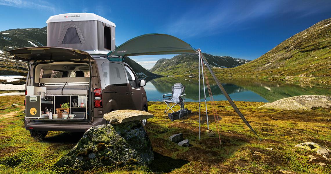 Camping mit dem Toyota Proace als Camper Van