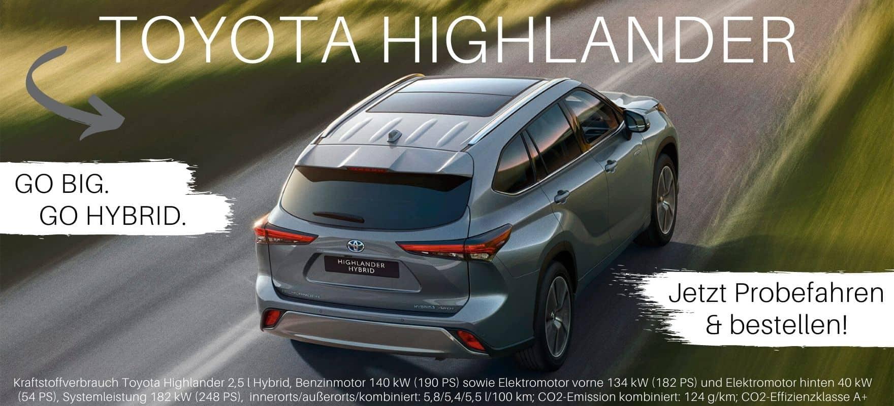 Der neue Toyota Highlander 2021 im Autohaus Metzger