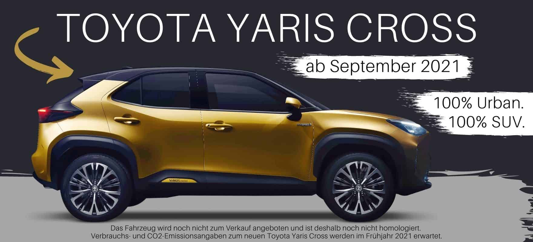 Toyota Yaris Cross SUV im Autohaus Metzger in Widdern bei Heilbronn