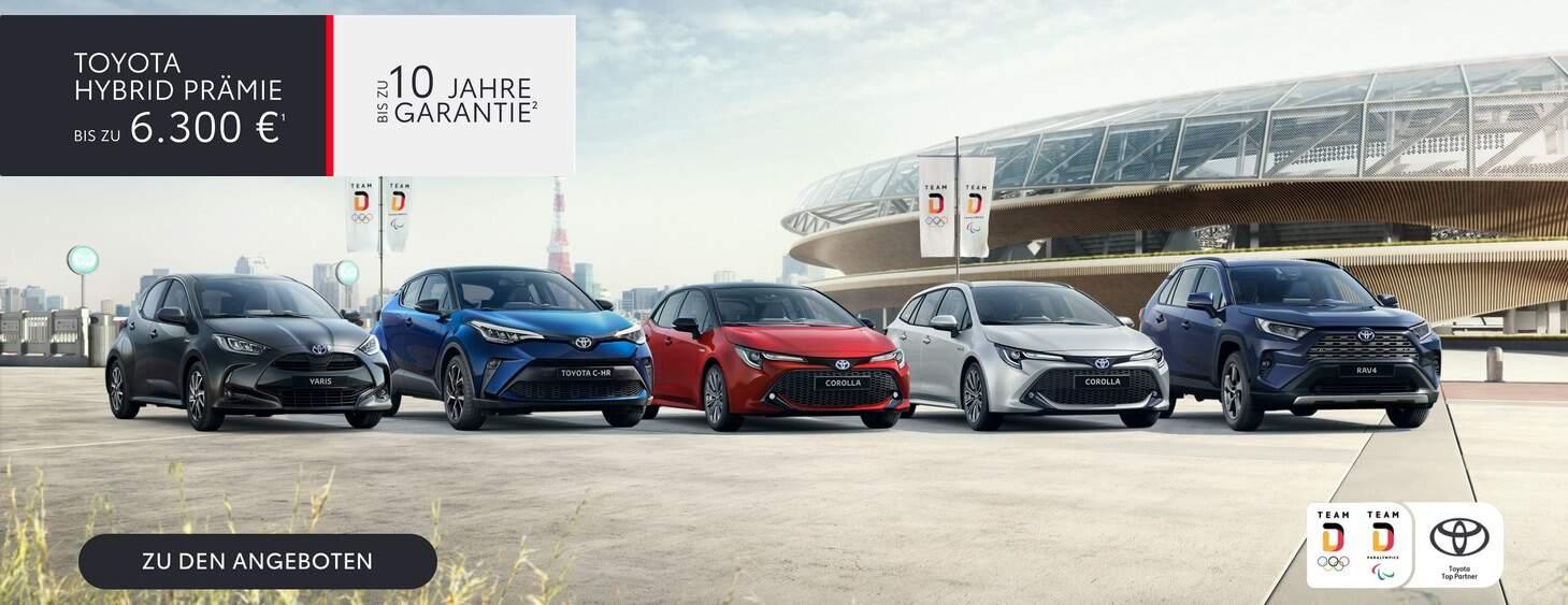 Toyota Hybrid Praemie Team Deutschland Modelle 2021 im Autohaus Metzger