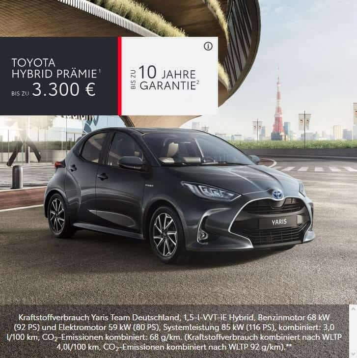 Toyota Yaris Hybrid Praemie im Autohaus Metzger