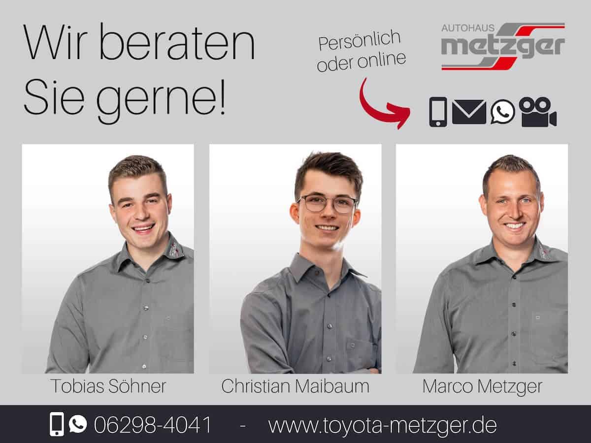 Ihr Verkaufsteam im Toyota Autohaus Metzger in Widdern bei Heilbronn