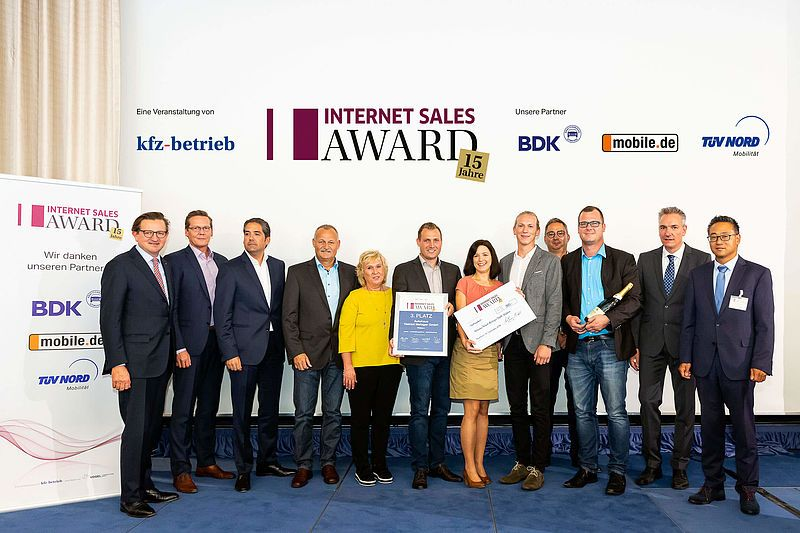 01.10.2018 – 3. PLATZ BEIM INTERNET SALES AWARD